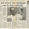 Dokter Ibes in SallandsDagblad met condoom